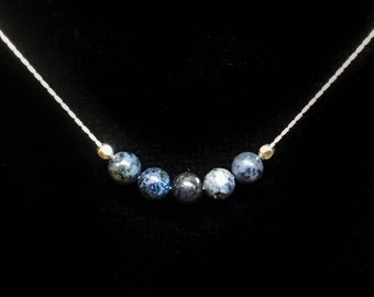 Sodalite Jewelry Healing Necklace, Mindfulness