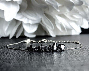 Natural Hematite Bracelet, grounding jewelry, Courage Bracelet, Dainty Anklet
