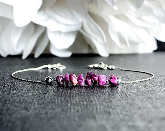 Ruby Energy Bracelet Anxiety Jewelry Motivation Bracelet Positive Energy, July Birthstone