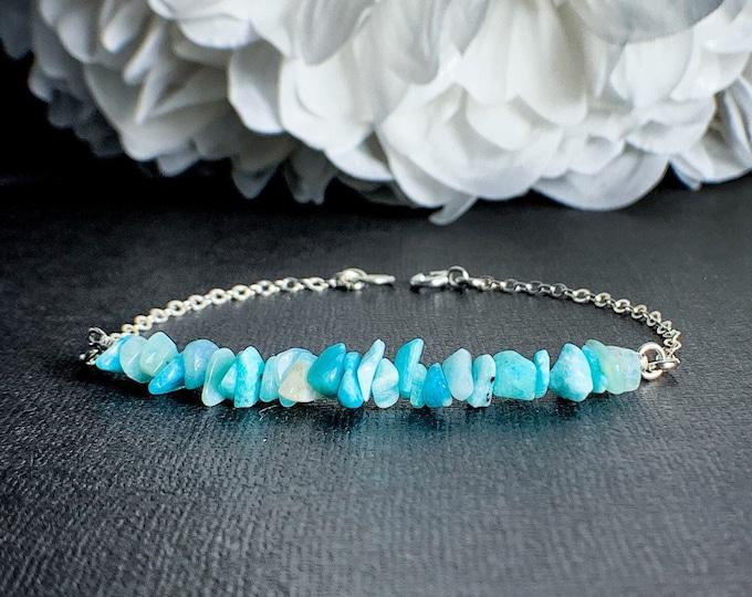 Raw Amazonite Crystal Bracelet