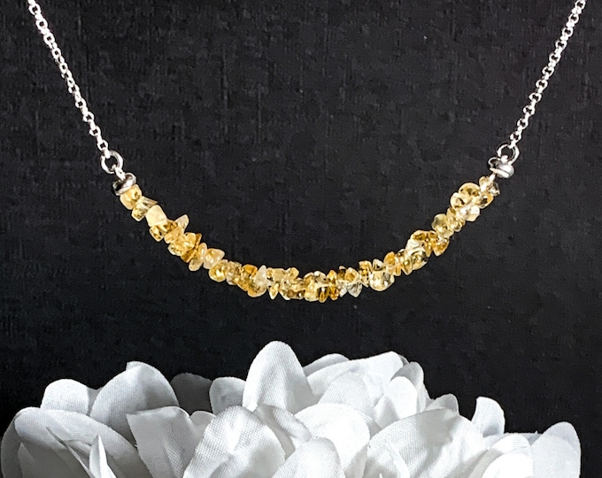 Raw Citrine Crystal Necklace, Citrine Jewelry, November Birthstone, Healing Crystals Necklaces, Citrine Necklace, Mother in Law Gift Gifts