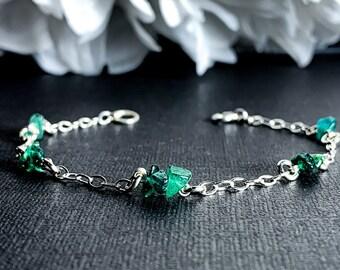 Aventurine Bracelet Raw Green Crystal Calming Anklet Bracelet Anklet