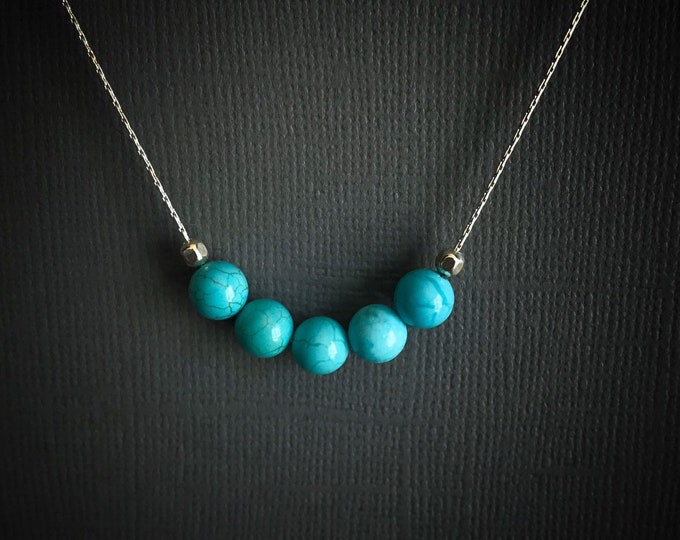 Genuine Turquoise Necklace, Protection Necklace December Birthstone