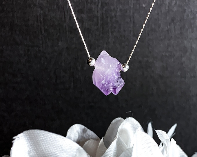Raw Amethyst Cluster Empath Anxiety Protection Jewelry