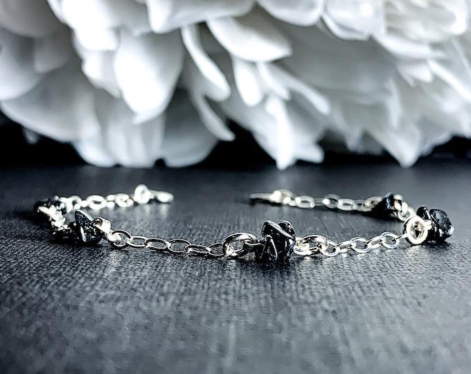 Hematite Anklet Satellite Chain Beaded Bracelet