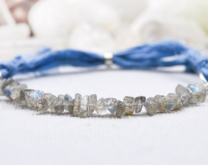 Rough Labradorite Stress Bracelet for New Beginnings