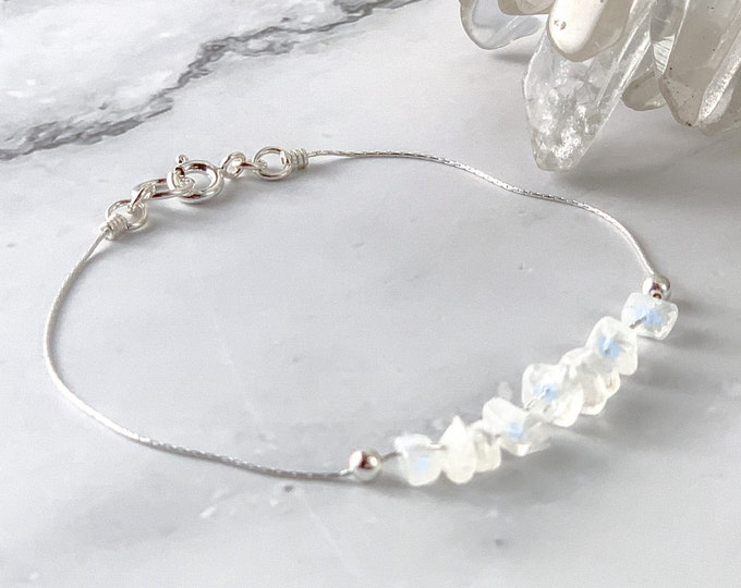 Moonstone Bracelet Fertility Gift, Encouragement Gift, Positive Energy, Sacred Feminine