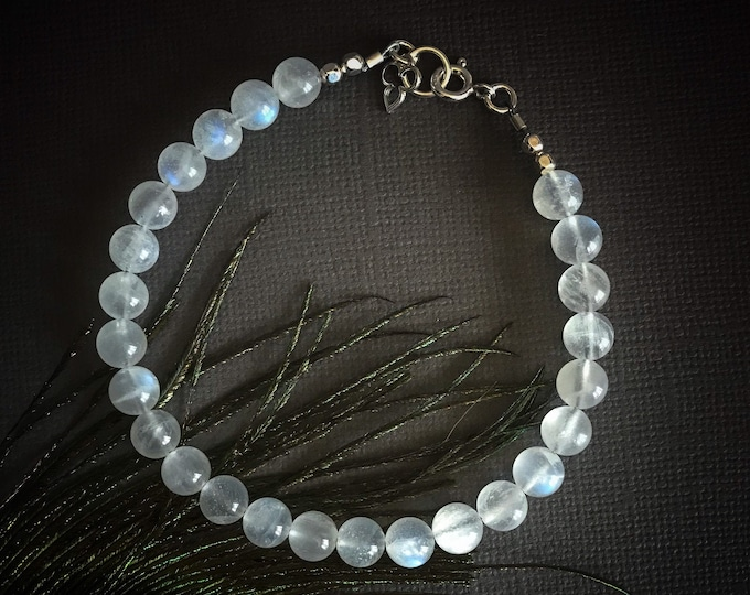Moonstone Bracelet Fertility crystals, June Birthstone Jewelry