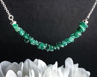 Aventurine Necklace Raw Crystal Choker Prosperity Stone Necklace