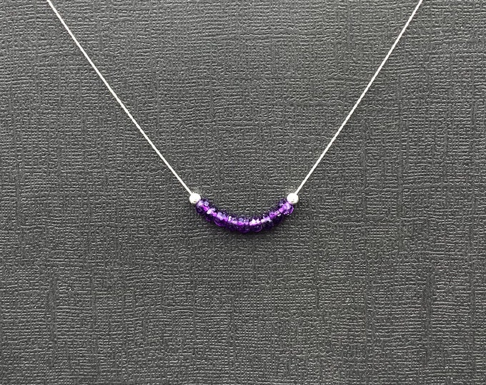 Delicate Genuine Amethyst Necklace Gemstone Choker