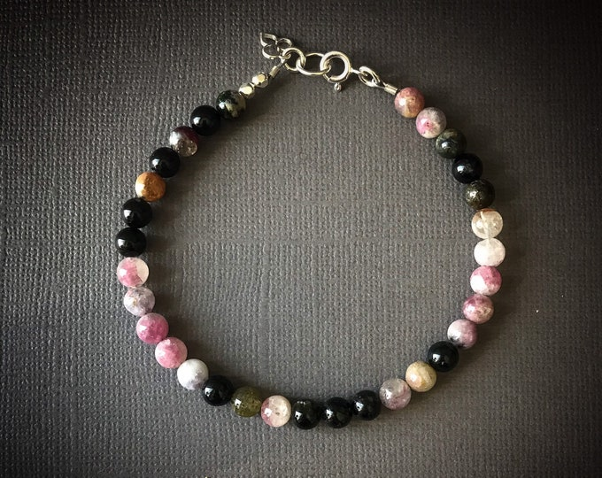 Tourmaline Bracelet Femme, Protection Bracelet anxiety relief