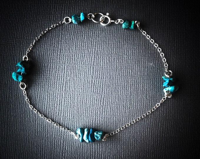 Turquoise Satellite Bracelet, Anklet