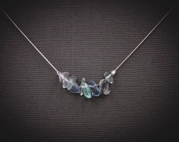 Rainbow Fluorite Empath Anxiety Protection Necklace