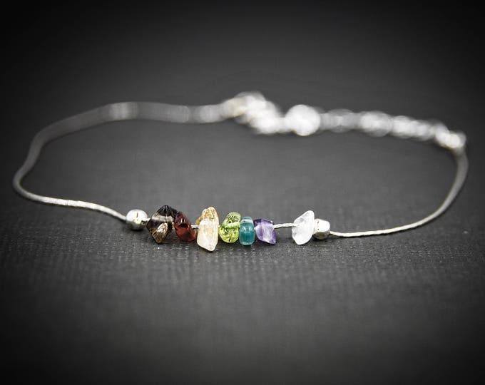 7 Chakra Bracelet, Chakra Anklet, Mindfulness Gift, Energy Bracelet, Balance Bracelet