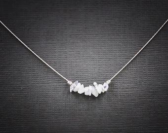Moonstone Necklace Iridescent Necklace Raw Crystal Necklace Fertility Infertility Moonstone Jewelry Choker Necklace Rainbow Moonstone