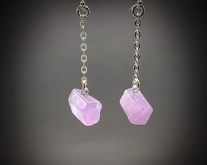 Amethyst Earrings Small Chandelier Silver Crystal Earrings