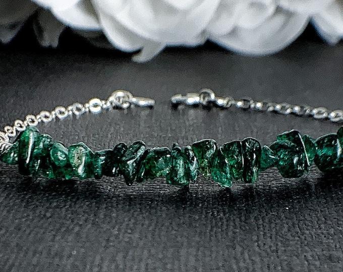 Green Aventurine Bracelet Prosperity Protection Bracelet Raw Healing Crystals