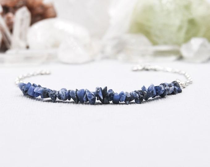 Sodalite Anxiety Bracelet Layering Bracelets Calming Bracelet Raw Crystal Bracelet Layering Bracelet Calming Bracelet Anxiety Jewelry