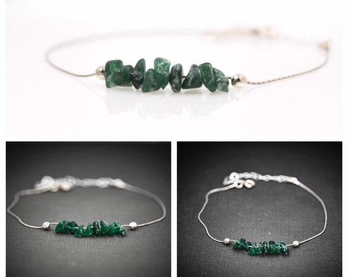 Raw Green Aventurine Bracelet, Prosperity Bracelet, Prosperity Jewelry, Abundance Bracelet