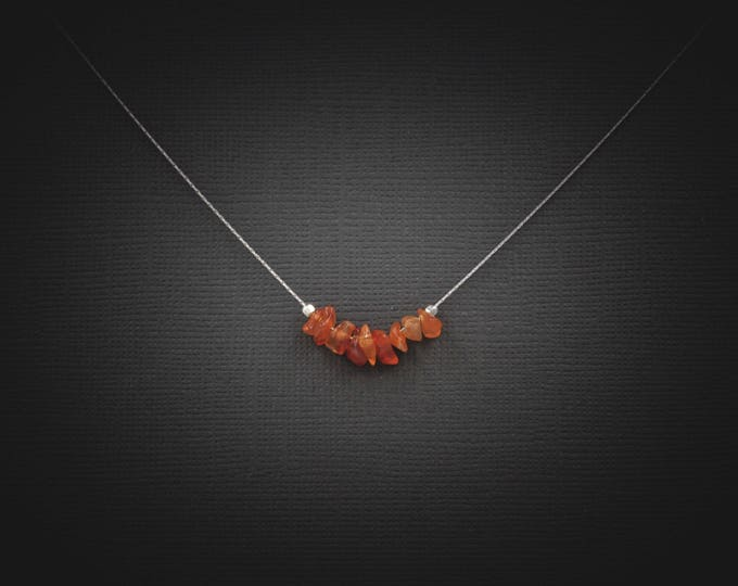 Carnelian Crystal Courage Necklace, self esteem, Fertility Gift, Carnelian stone