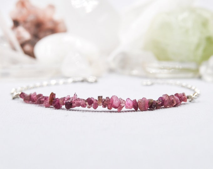 Ruby Bracelet Raw Ruby Jewelry July Birthstone Cancer Birthstone Jewelry Gift Energy Bracelet Root Chakra Positive Energy Anxiety Jewelry