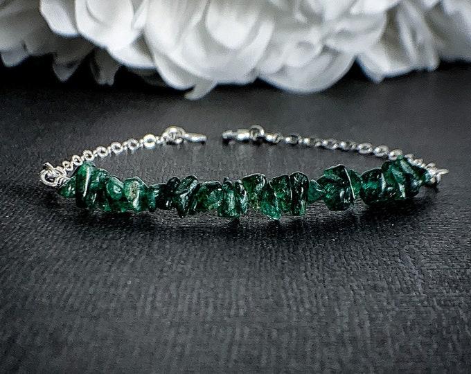Green Aventurine Prosperity Bracelet Prosperity Jewelry Healing Crystals Heart Chakra Layering Bracelets Anxiety Jewelry Calming Bracelet