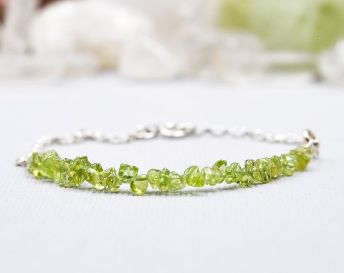 Peridot Bracelet Good Luck Bracelet Prosperity Jewelry August Birthstone Summer Jewelry Positive Energy Empath Protection Leo Birthstone