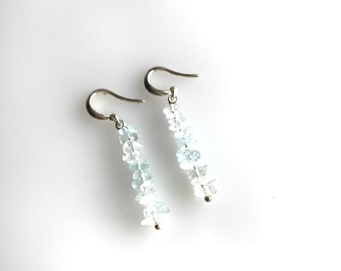 Aquamarine Earrings Calming Stones, Protection Jewelry, March Birthstone, Pisces Birthstone