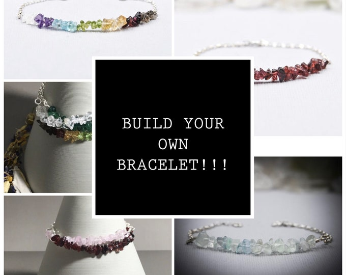 Customized Crystal Healing Bracelet, Design Your Own New Mom Jewelry