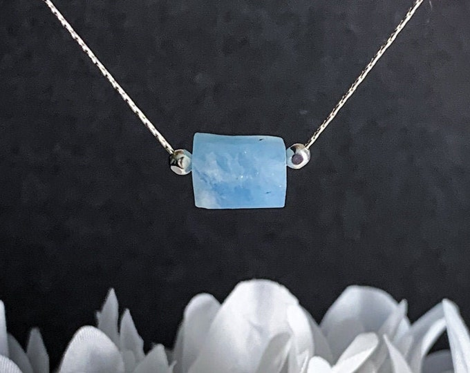 Pisces Aquamarine Crystal Necklace Pregnancy Gift Protection Healing Crystals