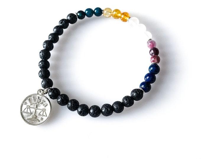 Libra Bracelet Lava Bead Bracelet Astrology Jewelry Libra Gifts Lava Bracelet
