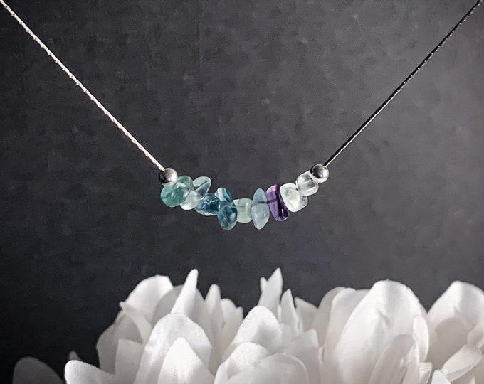 Rainbow Fluorite Necklace, Empath Jewelry, Anxiety Jewelry, Empath protection