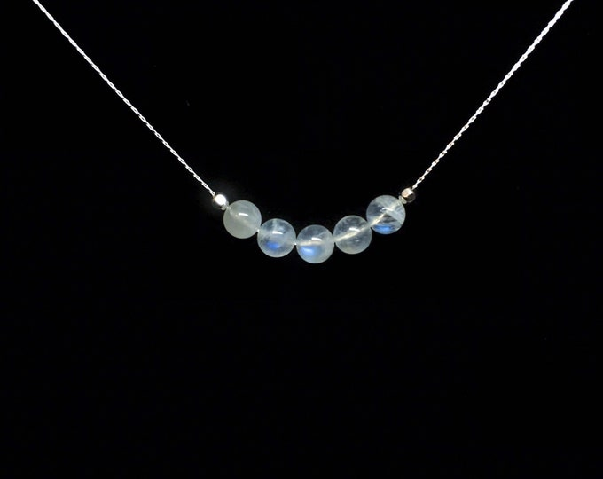 Moonstone Necklace, June Birthstone Necklace, Fertility Necklace