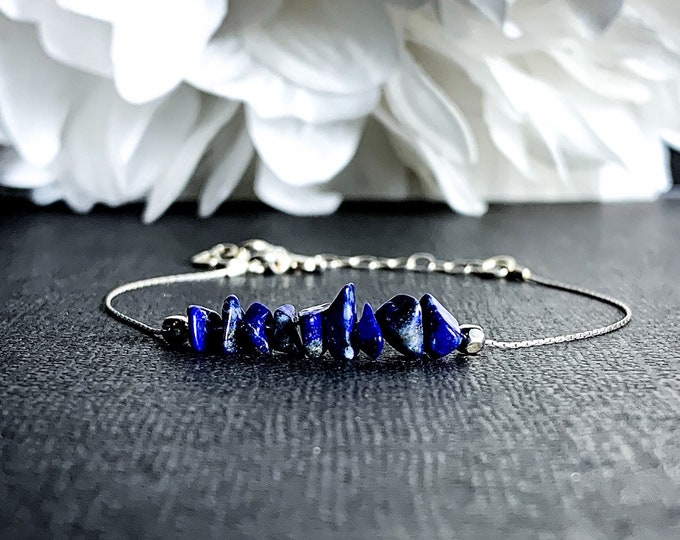 Lapis Lazuli Crystal Bracelet Throat Chakra Ankle Bracelet