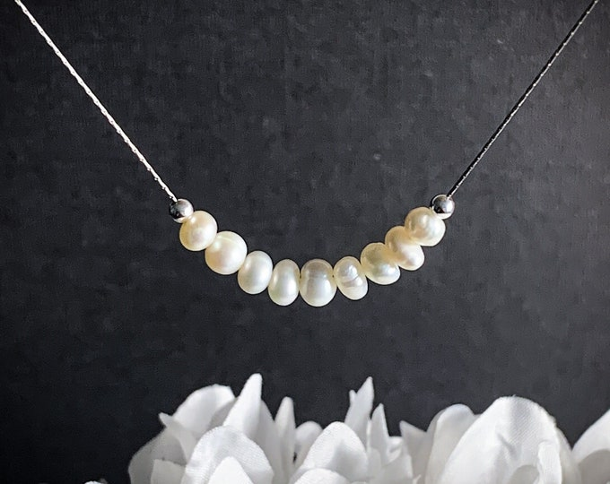 Pearl Necklace, Real Pearl Necklace, Dainty Pearl, Pearls, Real Pearls