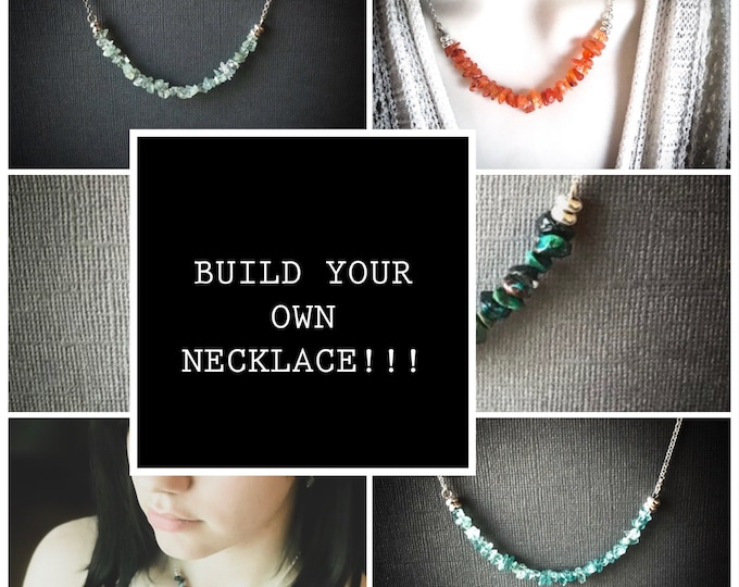 Create Your Own Build a Necklace  Personalized Crystal Intentions