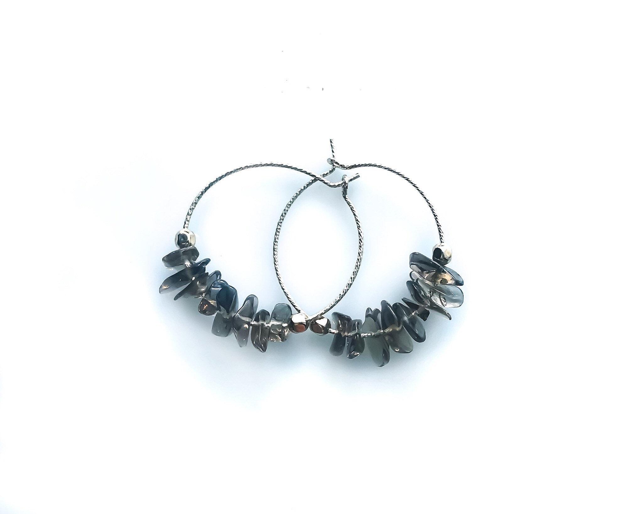 Raw Smoky Quartz EMF Protection Grounding Jewelry, Raw stone