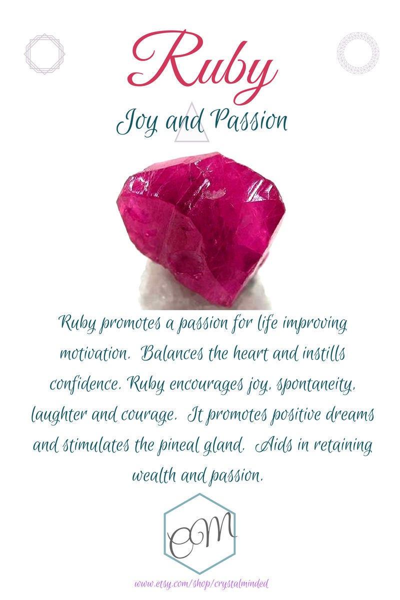 Ruby Bracelet Raw Ruby Jewelry July Birthstone Cancer