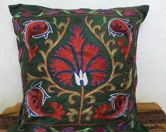 105x50cm Uzbek traditional Vintage Suzani Long Floor Cushion,Bedroom Suzani Pillow Cover High Quality Floor Suzani Pillow Cases