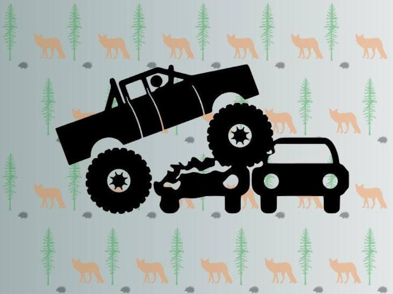 monster truck svg monstertrucks svg files for cricut image 0