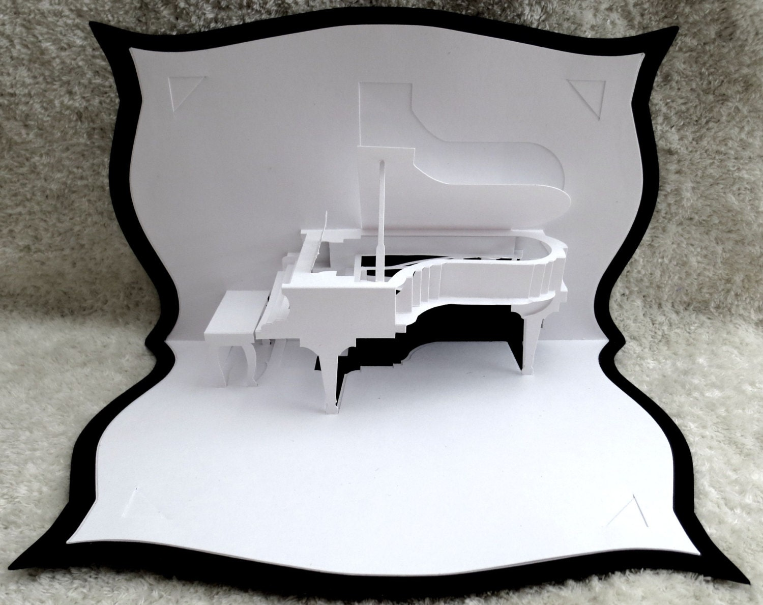 Pop-Up Karte Pop-up-3D Grand Piano Musik freier Gruß Anlass | Etsy