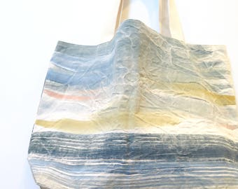 Extra Large Tofino Tote - Hand Painted Beach Bag