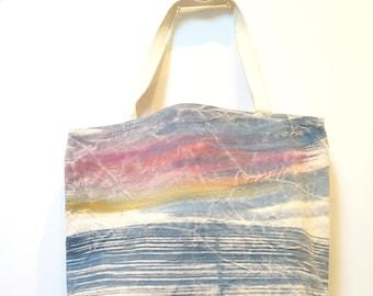 Medium Tote - Hand Painted Beach Bag