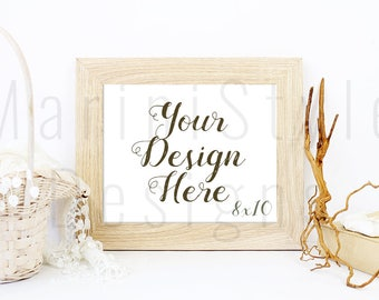 Download Free Frame Mockup, 8x10 Mockup, Empty Frame, Wooden Frame, Horizontal, Landscape, Vintage Styled Stock Photography, Stock Photo, Stock image, 465 PSD Template