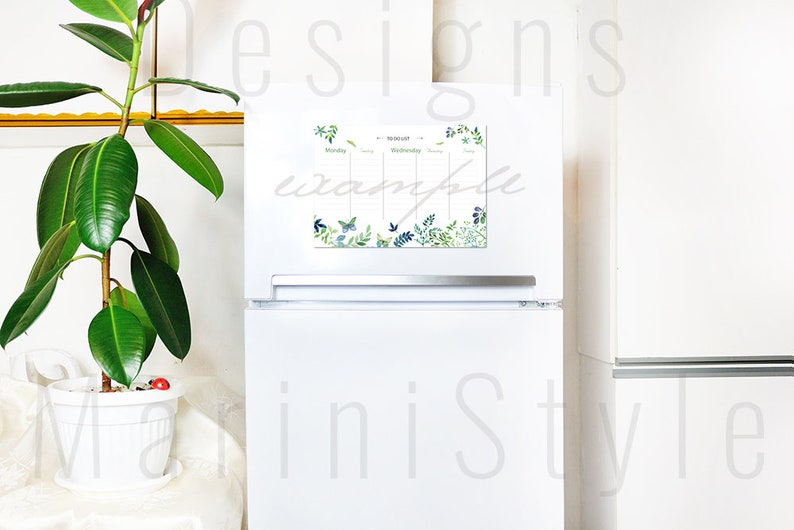 Kühlschrank Planer : Magnetische kühlschrank board mockup kühlschrank kalender etsy