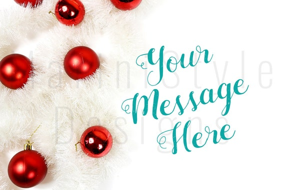 Weihnachten gestylt Stock Photography White & Red gestalteten | Etsy