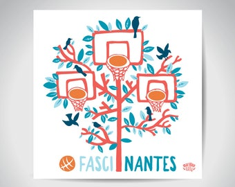 "Carte postale Nantes illustration ""fascinantes"""