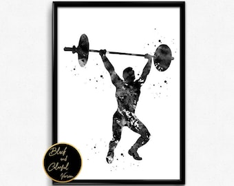 Weightlifting Art Etsy
