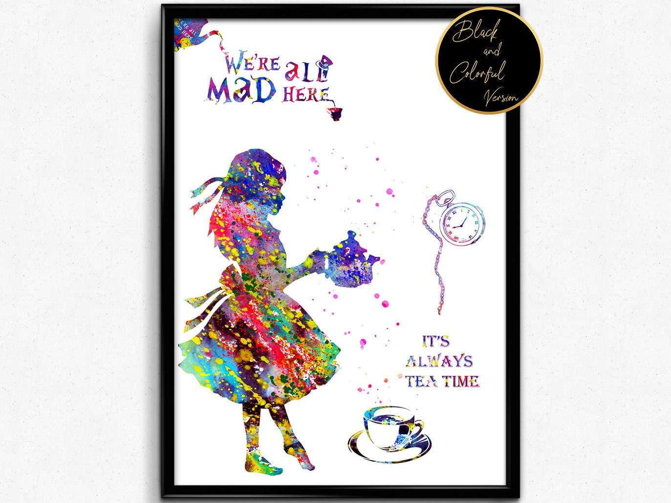 Alice In Wonderland Inspired Alice With Quotes Tea Time For Etsy