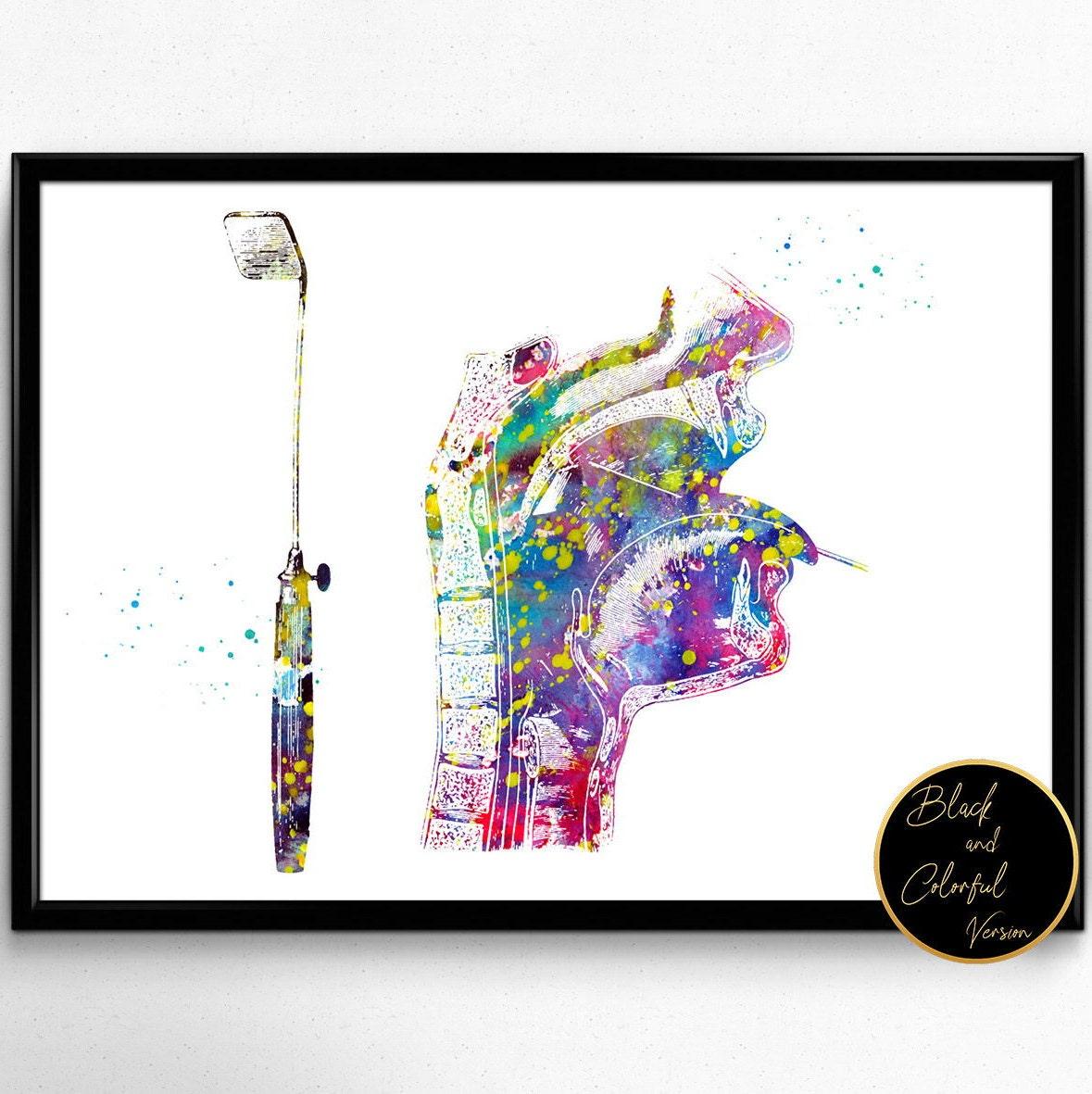 Laryngoskop Nase-Mund-Rachen-Kehlkopf Anatomie Kunst Plakat | Etsy